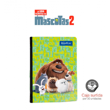 Cuaderno Cosido Pets Movie...